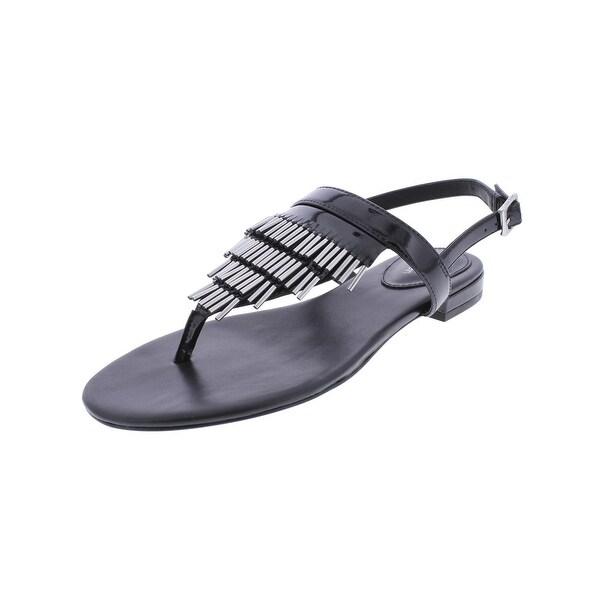 Calvin Klein Womens Evonie Thong Sandals Open Toe Slingback - 9 medium (b,m)