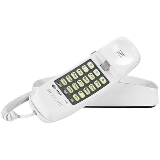 At T Attml210w Corded Trimline Phone With Lighted Keypad White