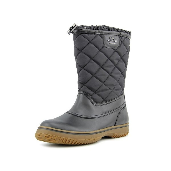 Coach Samara Round Toe Leather Winter Boot