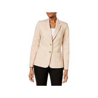 Tommy Hilfiger Womens Two-Button Blazer Two-Button Breast Pocket