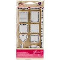 "Julie Nutting Mixed Media Cling Rubber Stamps-Frames 3.5""X8"""
