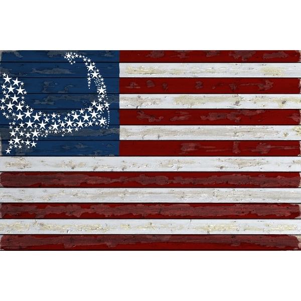 Cape Cod, MA - Distressed Flag - LP Artwork (Art Print - Multiple Sizes)