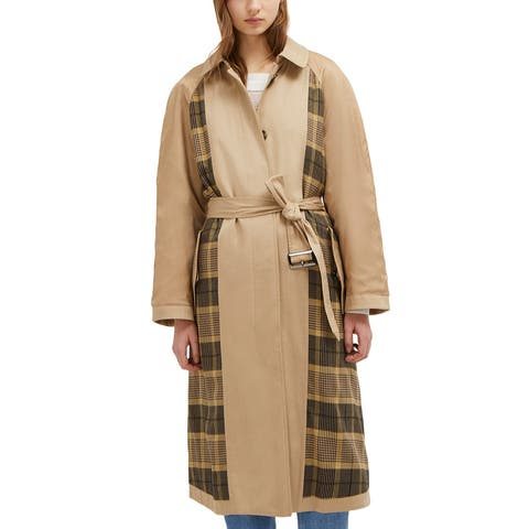 French Connection Anais Check Belted Trench Coat