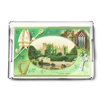 Kilkenny Castle Ireland St Patrick Day Vintage Art (Acrylic Serving Tray)