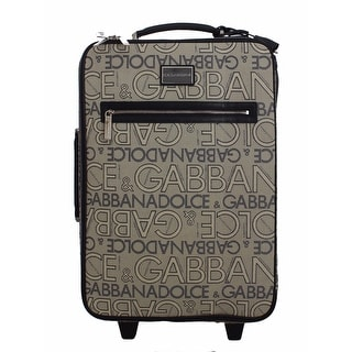 Dolce & Gabbana Luggage Bag Branded Travel Cabin Suitcase - gray