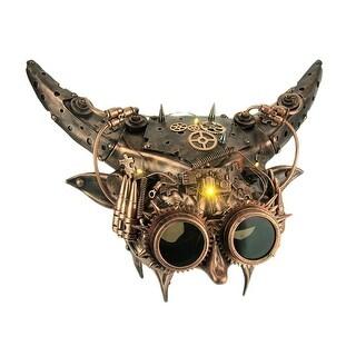 Mechanical Devil Light Up Adult Horned Steampunk Demon Mask