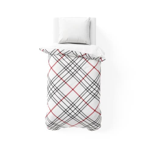 KELLY PLAID RED College Dorm Comforter By Terri Ellis