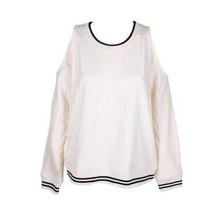 Lauren Ralph Lauren Mascarpone Cream Cold-Shoulder Sweatshirt L