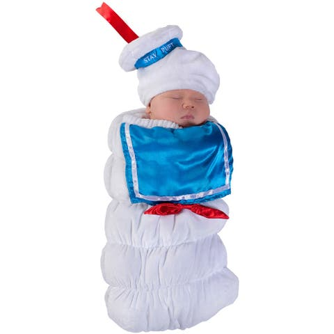 Princess Paradise Ghostbusters Stay Puft Swaddle Infant Costume - White