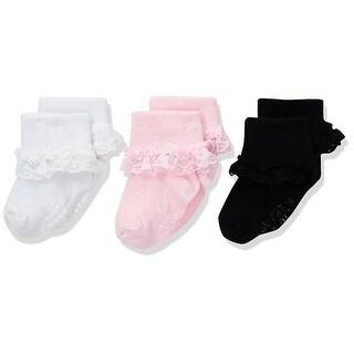 Carter's Baby Girls' 3 Pack Socks, 12-24 Months