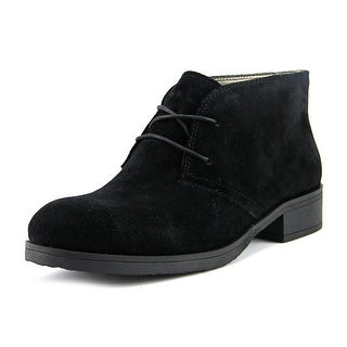 Bandolino Talon Women Round Toe Suede Black Chukka Boot