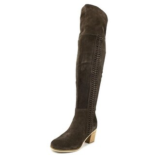 Coconuts By Matisse Muse Women  Round Toe Suede Brown Over the Knee Boot