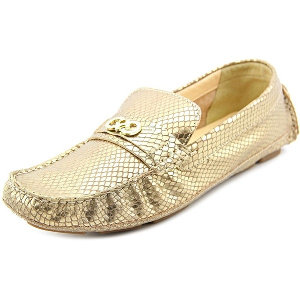 Cole Haan Shelby Ch.Logo II Women Square Toe Suede Gold Loafer