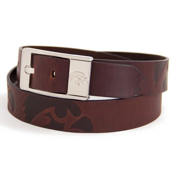 University of Iowa Brandish Leather Belt