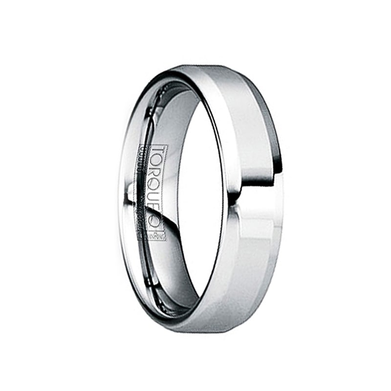 6mm /& 8mm IULIUS Polished Tungsten Carbide Comfort Fit Ring