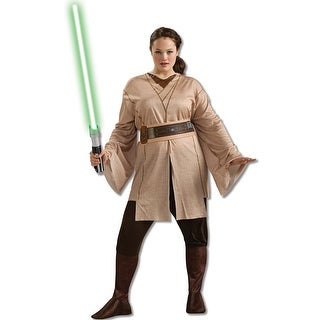 Rubies Female Jedi Knight Plus Size Costume - Beige - plus size