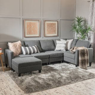 Link to Zahra 6-piece Sofa Sectional with Ottoman by Christopher Knight Home Similar Items in Living Room Furniture
