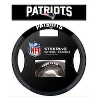 Fremont Die Inc New England Patriots Poly-Suede Steering Wheel Cover Steering Wheel Cover