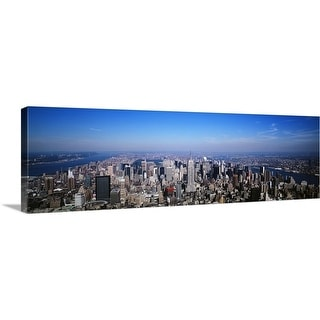 """New York, New York City, aerial"" Canvas Wall Art"