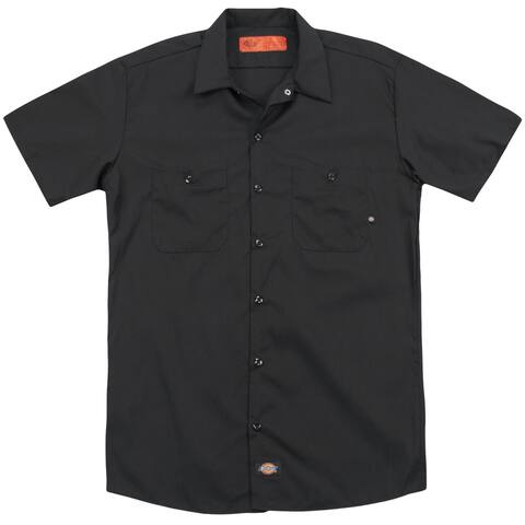 Genesis/Watcher Of The Skies (Back Print) Mens Work Shirt (Black, XXX-Large)