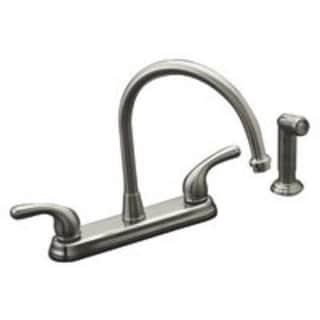 Mintcraft GU-TQDOB022 Hi-Rise Kitchen Faucets Two Handle, Brushed Nickel
