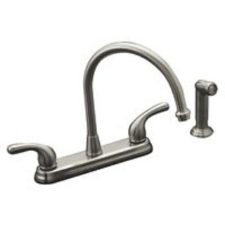 Mintcraft GU-TQDOB022 Hi-Rise Kitchen Faucets Two Handle, Brushed Nickel
