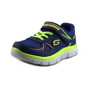 Skechers Flex Advantage-Mini Race Round Toe Synthetic Walking Shoe