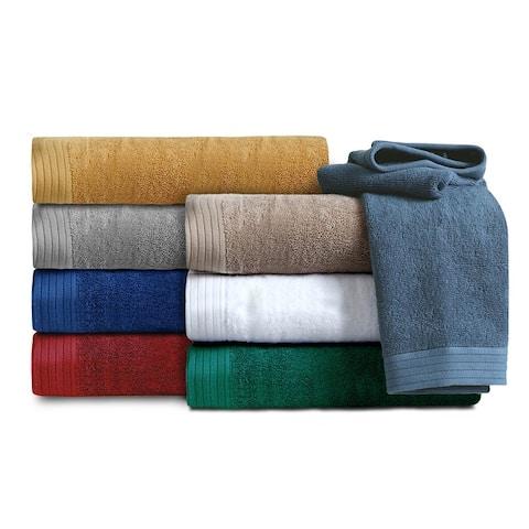 IZOD Everyday Cotton Bath Towels With Locker Loop, 2-Pack