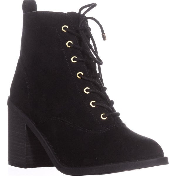MG35 Landrey Lace Up Booties, Black - 6.5 us