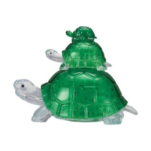 3D Crystal Puzzle - Turtles - 37 Pcs