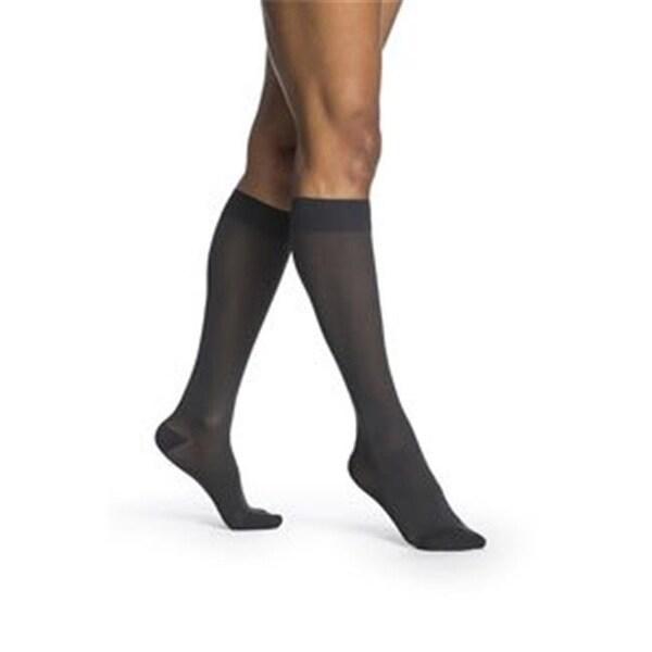 4b299dd8579ef Shop Sigvaris Womens Midsheer Calf High Socks, Nightshade - Large Long -  Free Shipping Today - Overstock.com - 23184757