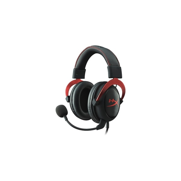 Kingston KHX-HSCP-RD Kingston HyperX Cloud II Headset - Surround - Red - Mini-phone - Wired - 60 Ohm - 15 Hz - 25 kHz -
