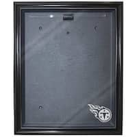Football Jersey Deluxe Full Size Display Case Black W Tennessee Titans Logo