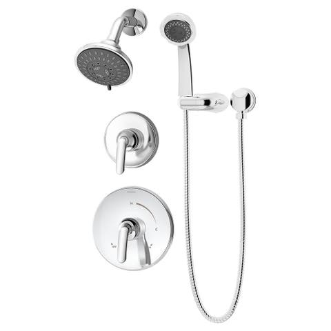 Symmons 5505-1.5-TRM Elm Shower Trim Only Package with Multi Function Shower Head and Hand Shower and Double Lever Handle
