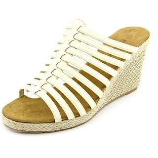 Bearpaw Flora Open Toe Synthetic Wedge Sandal