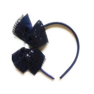French Toast Girls Sequin Bow Headband