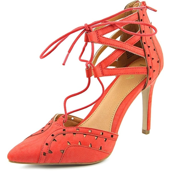 Mia Melonie Women Open Toe Leather Red Sandals
