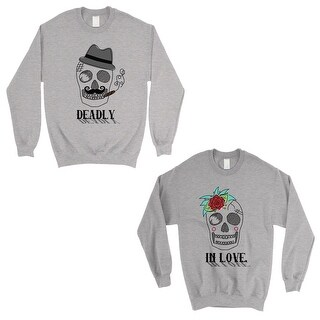 Deadly In Love Grey Matching Sweatshirt Pullover