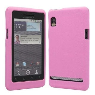 OEM Verizon Snap-On Gel Cover Case for Motorola Droid 2 Global (Pink)