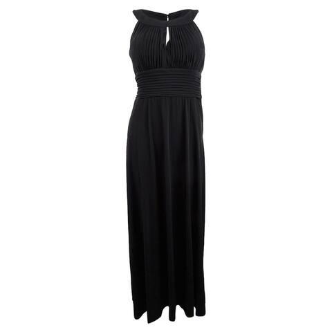 Sangria Women's Sleeveless Keyhole Gown (12, Black) - Black - 12