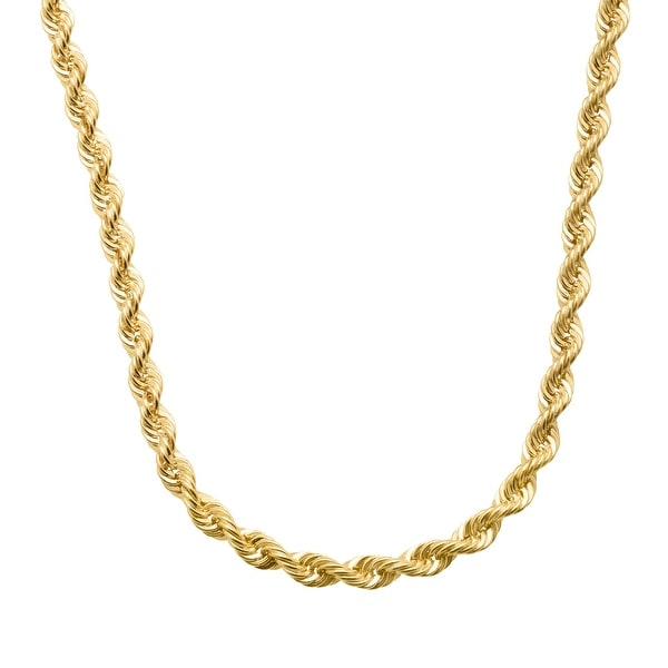 Just Gold 20-Inch French Rope Chain Necklace in 14K Gold - Yellow