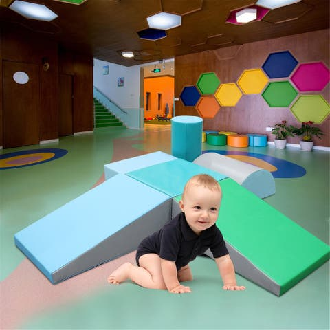 6Pcs Climb and Crawl Activity Play Set,Lightweight Foam Shapes for Climbing,Safe Foam Playset for Toddlers and Preschoolers