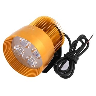 Unique Bargains Motorcycle Aluminum Shell 4 LED Decorative Flashlight Spotlight Orange