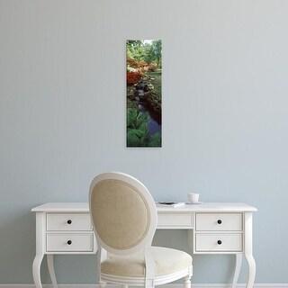 Easy Art Prints Panoramic Image 'Azaleas in a garden, Exbury Gardens, New Forest, Hampshire, England' Canvas Art
