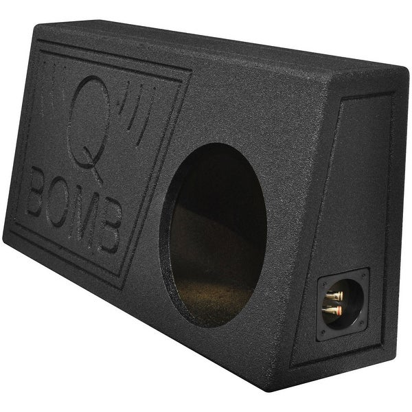 """Qpower Single 10"""" Truck Ported SPL Empty Woofer Box with Bed Liner Spray"""