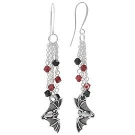 Halloween Earrings - Flying Bat - Exclusive Beadaholique Jewelry Kit