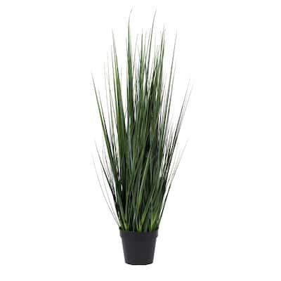 Pottery Pots Medium Indoor Outdoor Artificial Grass in Pot, 42.13 Inch Tall, Green