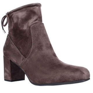 Franco Sarto Pisces Black Lace Ankle Booties, Taupe