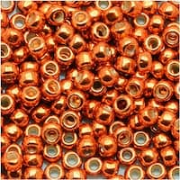 Toho Round Seed Beads 8/0 PF562 - Permanent Finish Galvanized Saffron (8 Grams)