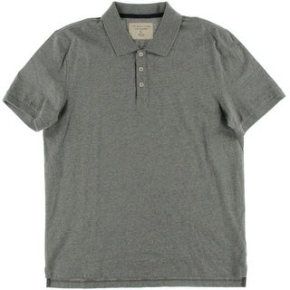 Private Label Mens Heathered Short Sleeves Polo Shirt - L